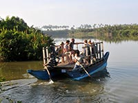 Boat ride in Kahandamodara lagoon